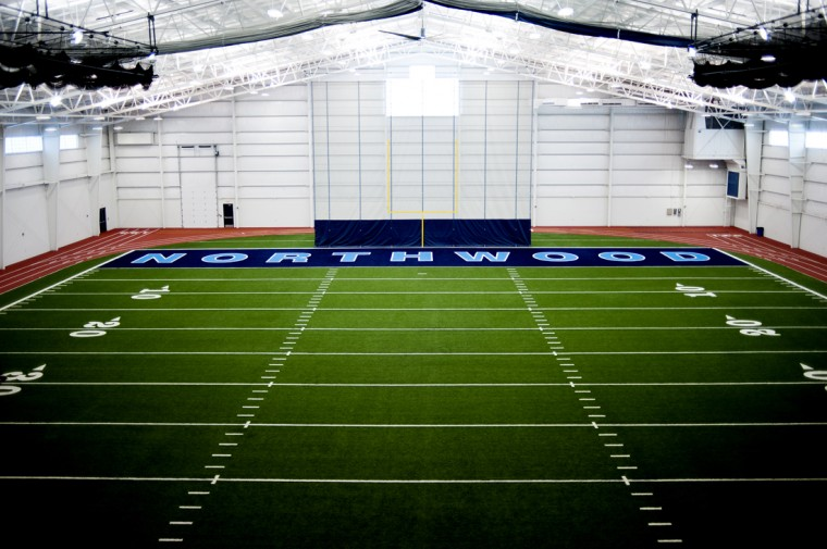 Inside one of the fields at the Gerstacker Athletic Complex