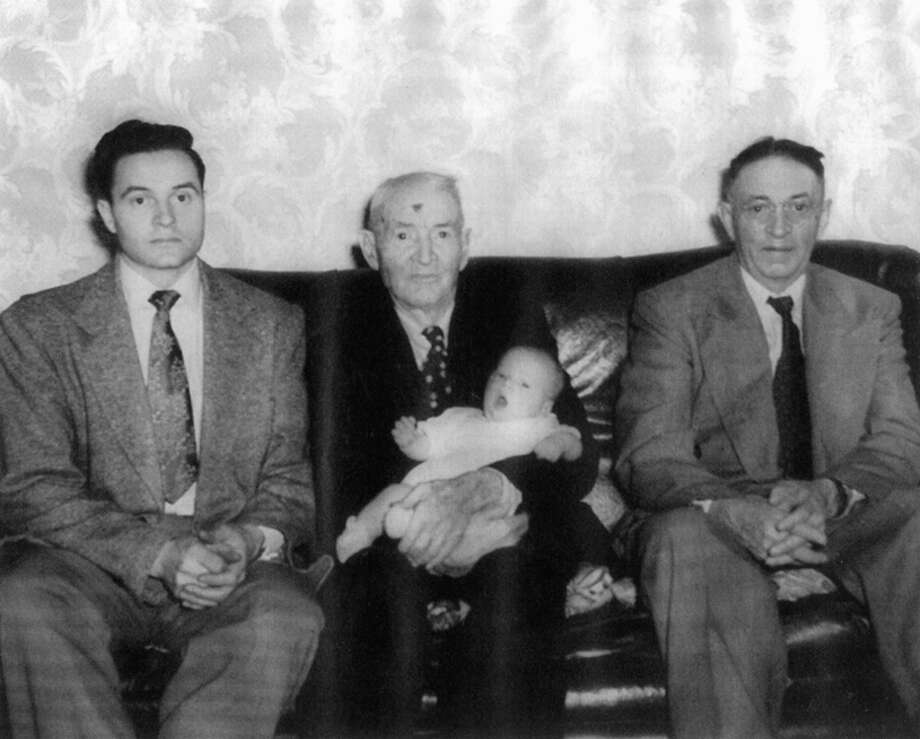 Tradition has played a tremendous role in the Bradford family. Here are four generations from right: Edwin, grandfather Fred holding baby Philip, and father R.D.