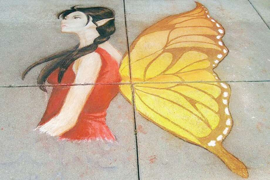 A mural by Devin Manges and Maria Seger on the sidewalk in front of the Sleepy Hollow Bookshop. Photo: Photo Provided