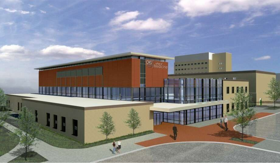 An artist's rendering of one of the CMU College of Medicine buildings planned in Saginaw. Photo: Lori Conroy