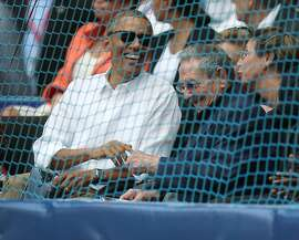 HAVANA, CUBA - MARCH 22:  U.S. President Barack Obama and Cuban President Raul Castro sit together during  the exhibition game between the Cuban national team and the Tampa Bay Rays of the Major League Baseball at the Estado Latinoamericano March 22, 2016 in Havana, Cuba. This is the first time a sittng president has visited Cuba in 88 years.  (Photo by Joe Raedle/Getty Images)