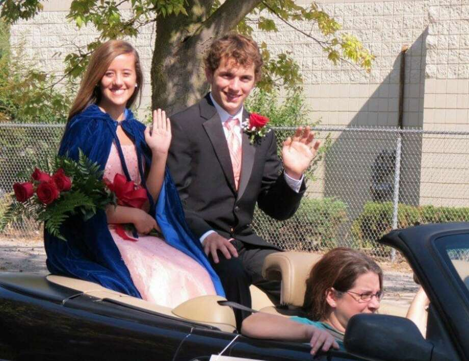 Photo providedAt Midland High School, the junior class homecoming court representative was Savannah Wheeler, the youngest of Linda and Scot Wheeler's four daughters, all of whom have been on the MHS homecoming court. She is riding in the car with her boyfriend, Levi Box, also a member of the junior class homecoming court.
