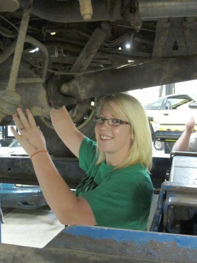 Photo providedKristin Keen, a 2012 Gladwin High School graduate, is the first female in the automotive technology class to earn mechanic repair certification.