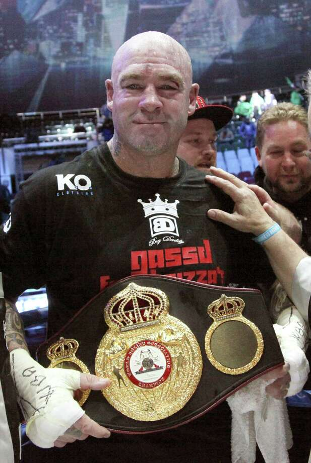 Australia's Lucas Browne celebrates his victory over Uzbekistan's Ruslan Chagaev after their WBA world heavyweight boxing title match in Chechnya's provincial capital Grozny, Russia, Saturday, March 5, 2016. Browne won the regular WBA heavyweight title by beating defending champion Chagaev by technical knockout. (AP Photo/Musa Sadulayev) ORG XMIT: XEL116 Photo: Musa Sadulayev / AP