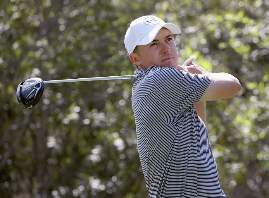 AUSTIN, TX - MARCH 22:  Jordan Spieth plays a shot during a practice round for the World Golf Championships-Dell Match Play at Austin Country Club on March 22, 2016 in Austin, Texas.  (Photo by Tom Pennington/Getty Images) ORG XMIT: 592305845 Photo: Tom Pennington / 2016 Getty Images