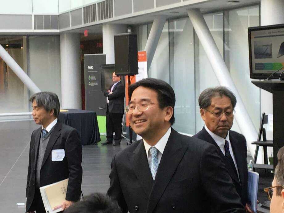Koji Abe, deputy chief of the Japanese consulate at SUNY Polytechnic Institute's new ZEN building.