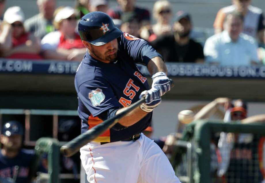 Astros first baseman Tyler White is turning heads with his hitting this spring. Photo: John Raoux, STF / AP