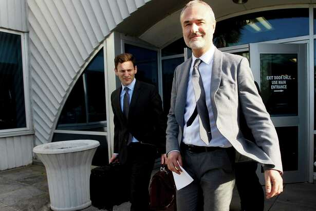 Nick Denton, founder of Gawker, leaves the courthouse after a jury returned its decision Monday, March 21, 2016, in St. Petersburg, Fla. A jury has hit Gawker Media with $15 million in punitive damages and its owner with $10 million, adding to the $115 million it awarded last week for publishing a sex video of Hulk Hogan. (Dirk Shadd/The Tampa Bay Times via AP)  TAMPA OUT; CITRUS COUNTY OUT; PORT CHARLOTTE OUT; BROOKSVILLE HERNANDO TODAY OUT; MANDATORY CREDIT ORG XMIT: FLPET204