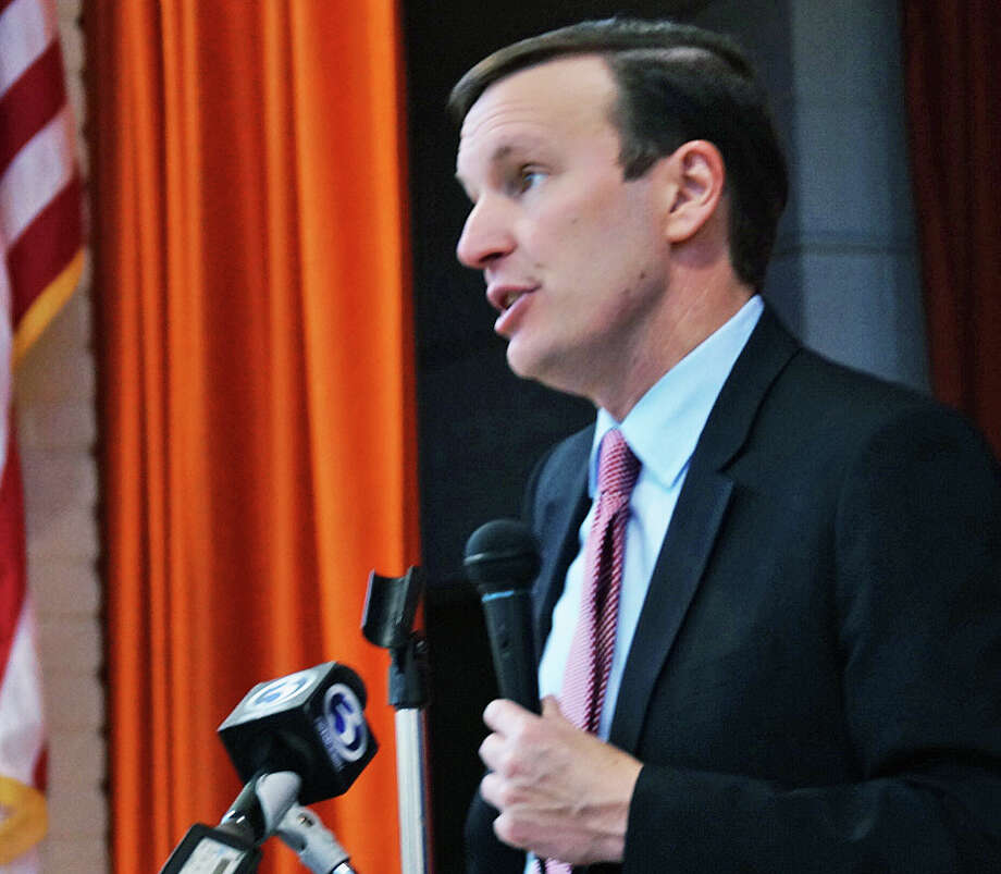 U.S. Sen. Chris Murphy announced a proposed bill that would give unpaid caregivers Social Security credit. He made his announcement Tuesday at the Bigelow Center for Senior Activities. Photo: Genevieve Reilly / Hearst Connecticut Media / Fairfield Citizen