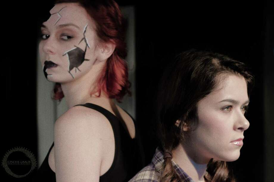 "Molly Walter (from left) and Cristina Vazquez play Dark Alice and Dorothy in ""Queen's Castle"" at the Overtime Theater. Photo: B.K-McKee, Courtesy BK McKee / Enygma Photography 2015"