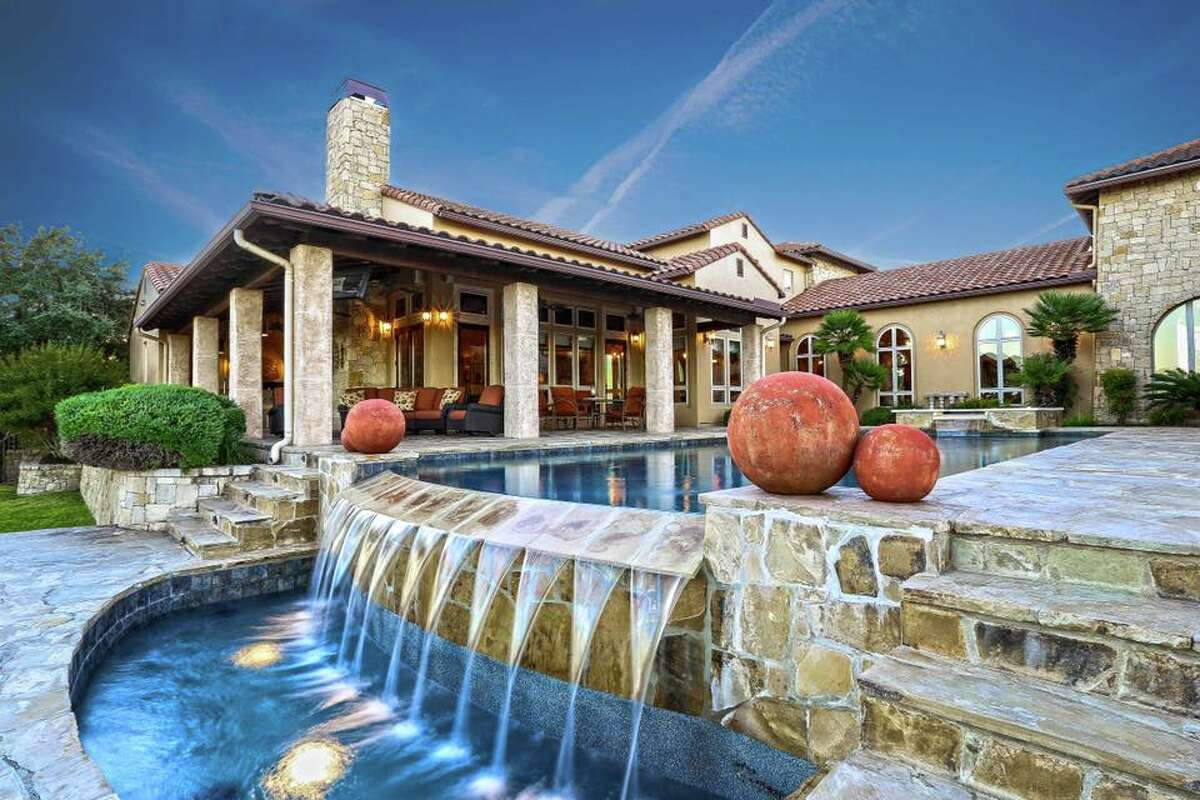 This four-bedroom Boerne mansion has a basketball court, a pool/spa and a master suite to die for.