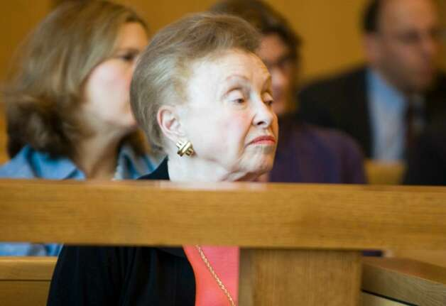 Dorthy Moxley, mother of Martha Moxley, listens to testimony during a hearing at state Superior Court in Stamford, Conn. on Monday, April 23, 2007 to determine if Michael Skakel can get a new trial in his 2002 conviction for the 1975 murder of Martha Moxley in Greenwich, Conn. Photo: File Photo / Stamford Advocate File Photo