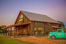 The exterior of the Rancho Pillow retreat near Round Top, Texas.