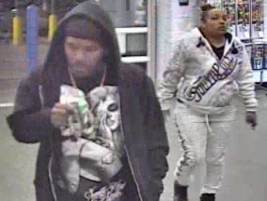 San Antonio Police are searching for two suspects in a robbery at a Walmart in February. Photo: San Antonio Police Department