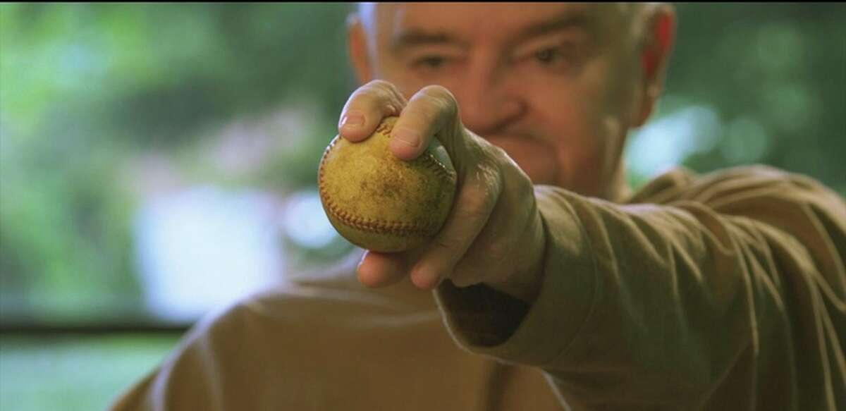 """In """"Fastball,"""" career minor-leaguer Steve Dalkowski shows the grip that made him one of the hardest throwers of his era."""