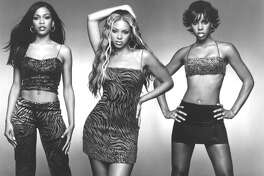Destiny's Child (L-R): Michelle, Beyonce and Kelly