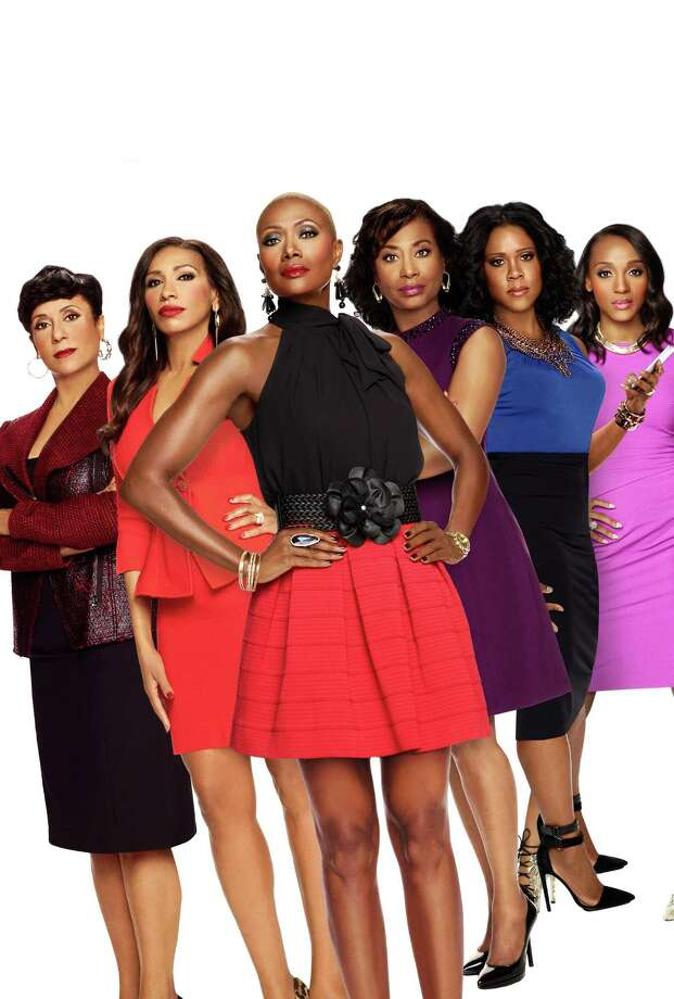 """""""Sisters in Law"""" stars Juanita Jackson, from left, Rhonda Wills, Jolanda Jones, Vivian King, Monique Payne and Tiye Foley.Houston has a legacy of producing some pretty big reality TV stars. Keep clicking for a look at some of them from our hometown over the years. Photo: WE Network"""