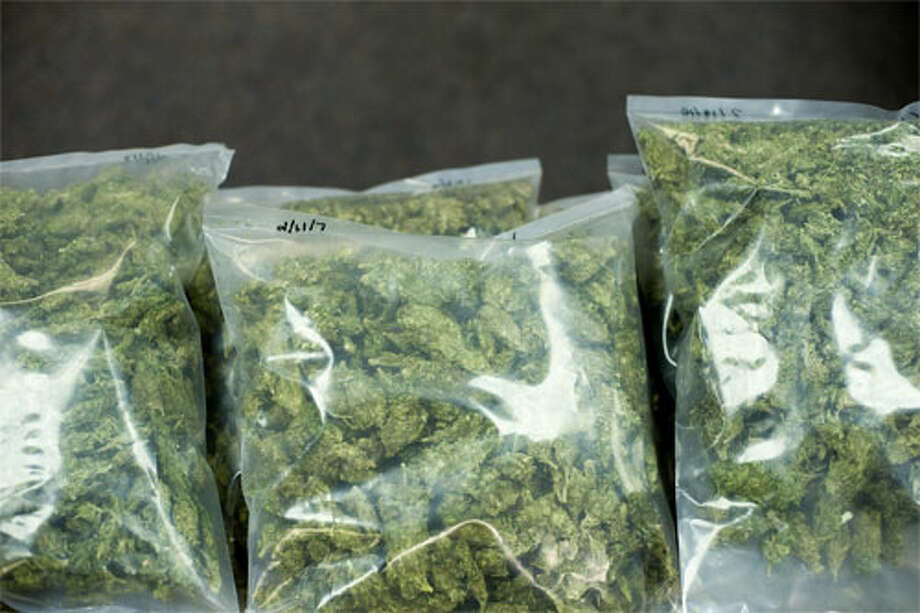 FILE — A police photo of marijuana found during an arrest in Midland in 2010. (Photo provided)