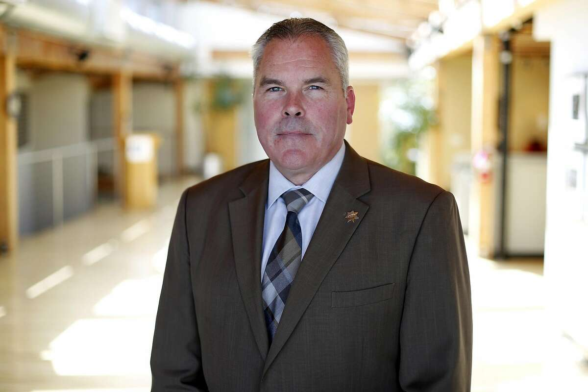 Martin Halloran, president of the San Francisco Police Officers Association, poses for a photograph in the association's offices in San Francisco, California, on Tuesday, March 22, 2016.