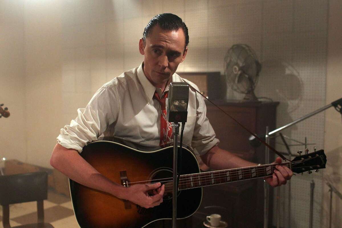 This image released by Sony Pictures Classics shows Tom Hiddleston as Hank Williams in a scene from,