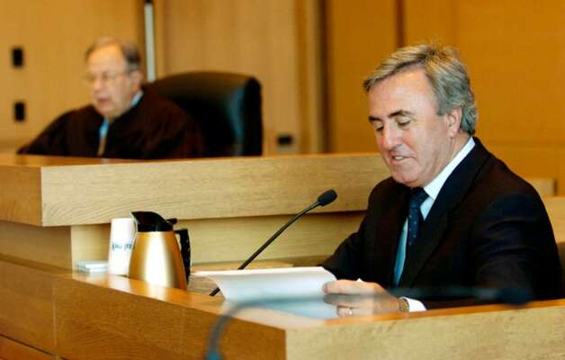 Michael Sherman testifies about his role as Michael Skakel's former defense attorney at  Superior Court in Stamford, Conn., Friday, April 20, 2007. Photo: File Photo / Stamford Advocate File Photo