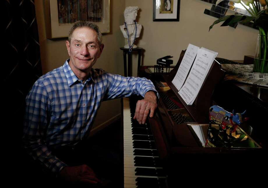 Roger Woest raises money for various causes with his series of Caring Cabaret musical events. Photo: Melissa Phillip, Staff / © 2016 Houston Chronicle