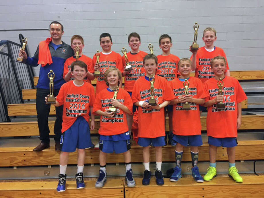 The champion fifth grade Darien travel boys team; Front Row L - R: Luke O'Connell, Isaac McMullin, Brenton, Will Anderson, Tommy Anderson.Back Row L - R: Coach Dan Volz, Mac McGahren, Liam McBride, Sam Sealy, Simeon Doll, Brendan Howard. Photo: Contributed / Darien News