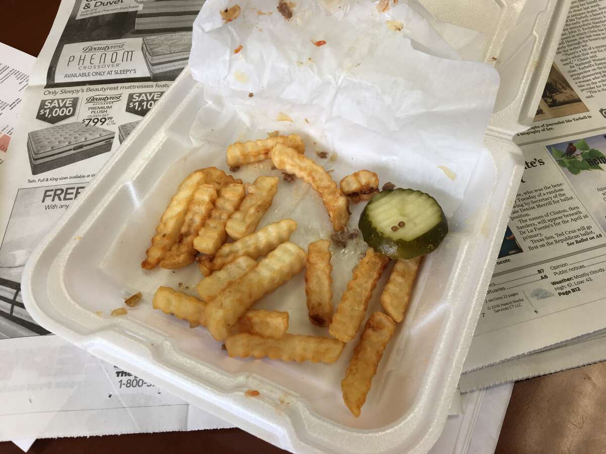 It would have been a lot less sad if there were more French fries.
