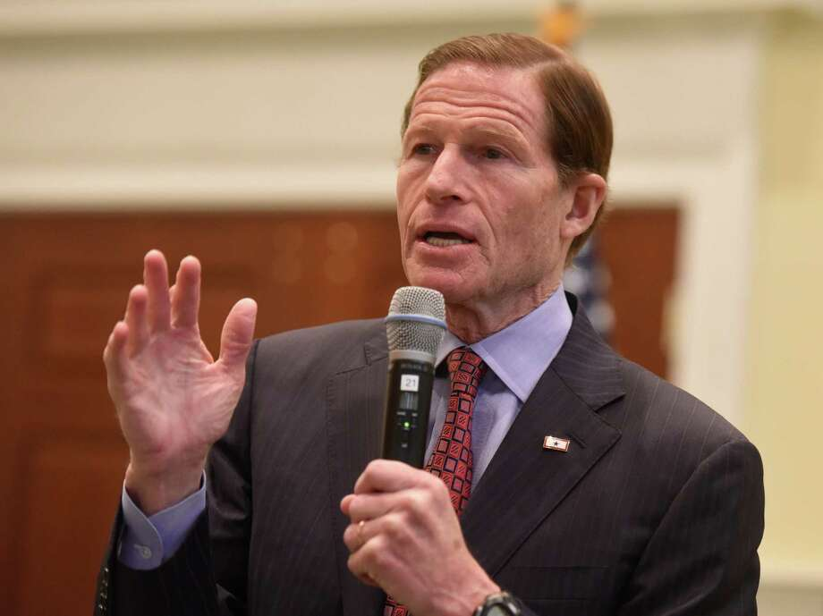 U.S. Senator Richard Blumenthal speaks before the Retired Mens Association of Greenwich at First Presbyterian Church in Greenwich, Conn. Wednesday, March 23, 2016. In the wake of the recent attacks on Brussels, Sen. Blumenthal spoke about the increasing threats of terrorism and shared his thoughts on how to combat those threats. Photo: Tyler Sizemore / Hearst Connecticut Media / Greenwich Time