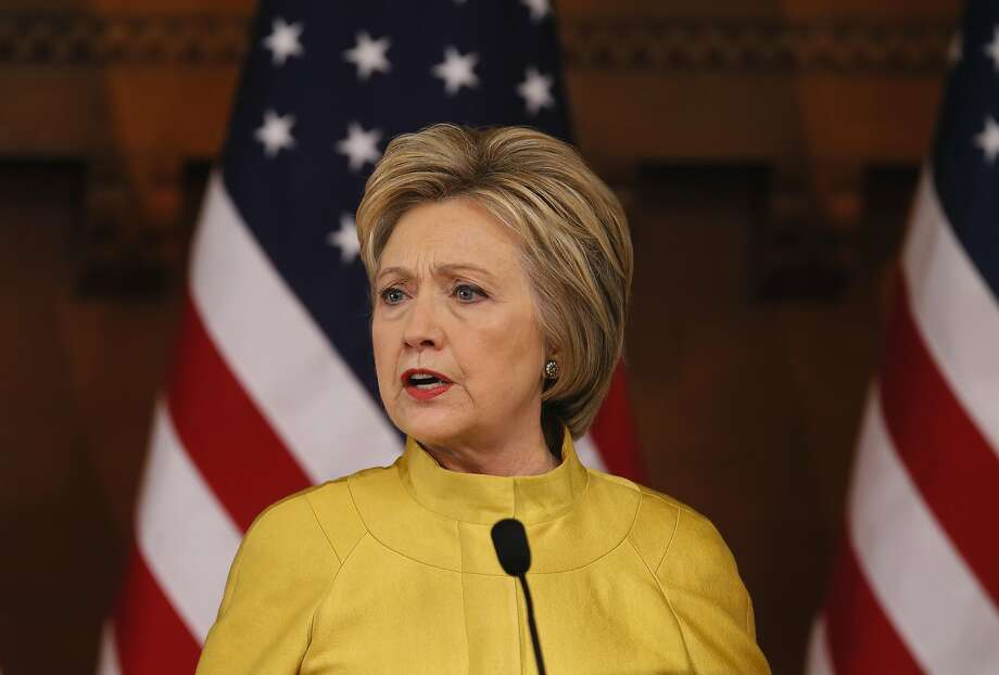 Presidential candidate Hillary Clinton delivers a counter-terrorism speech at Stanford University on Wed. March 23, 2016, in Stanford, California. Photo: Michael Macor, The Chronicle
