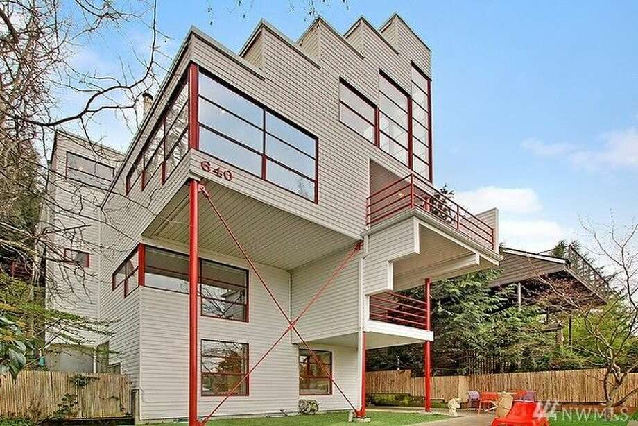 """This home, 640 32nd Ave. E., is listed for $1.495 million.Known as the """"Zig-Zag House"""" for its distinct look, the home was designed by noted local architect Warren Pollock.  The three bedroom, 2.5 bathroom home spans more than 2,300 square feet and includes a two-car garage and a private yard.You can see the full listing here. Photo: Timothy W. Lenihan,  Windermere Real Estate Company"""