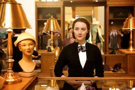 "This photo provided by Fox Searchlight shows, Saoirse Ronan as Eilis in a scene from the film, ""Brooklyn.""  The movie opens in U.S. theaters on Nov. 4, 2015. (Kerry Brown/Fox Searchlight via AP)"