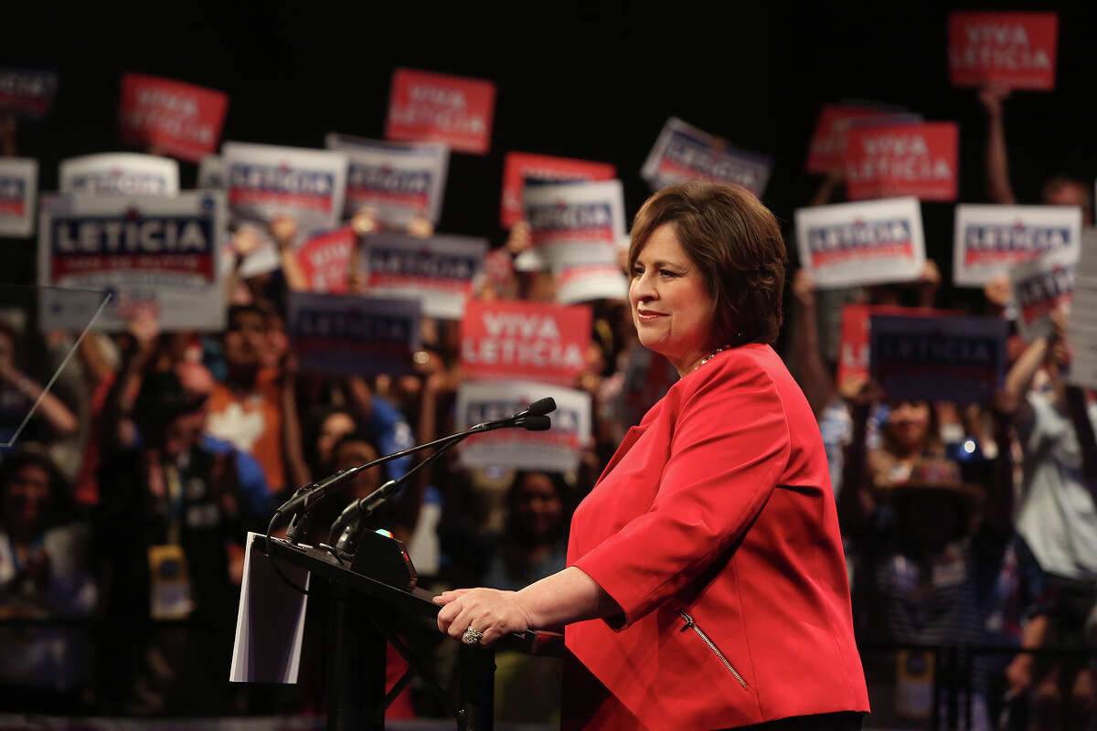 Leticia Van de Putte, State Senator and candidate for Lt. Governor, delivers her speech at the Texas Democratic State Convention at the Dallas Convention Center in Dallas on Friday, June 27, 2014.