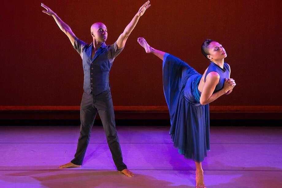 "Matthew Rushing and Linda Celeste Sims of Alvin Ailey American Dance Theater in Ronald K. Brown's ""Open Door."" Photo: Paul Kolnik"