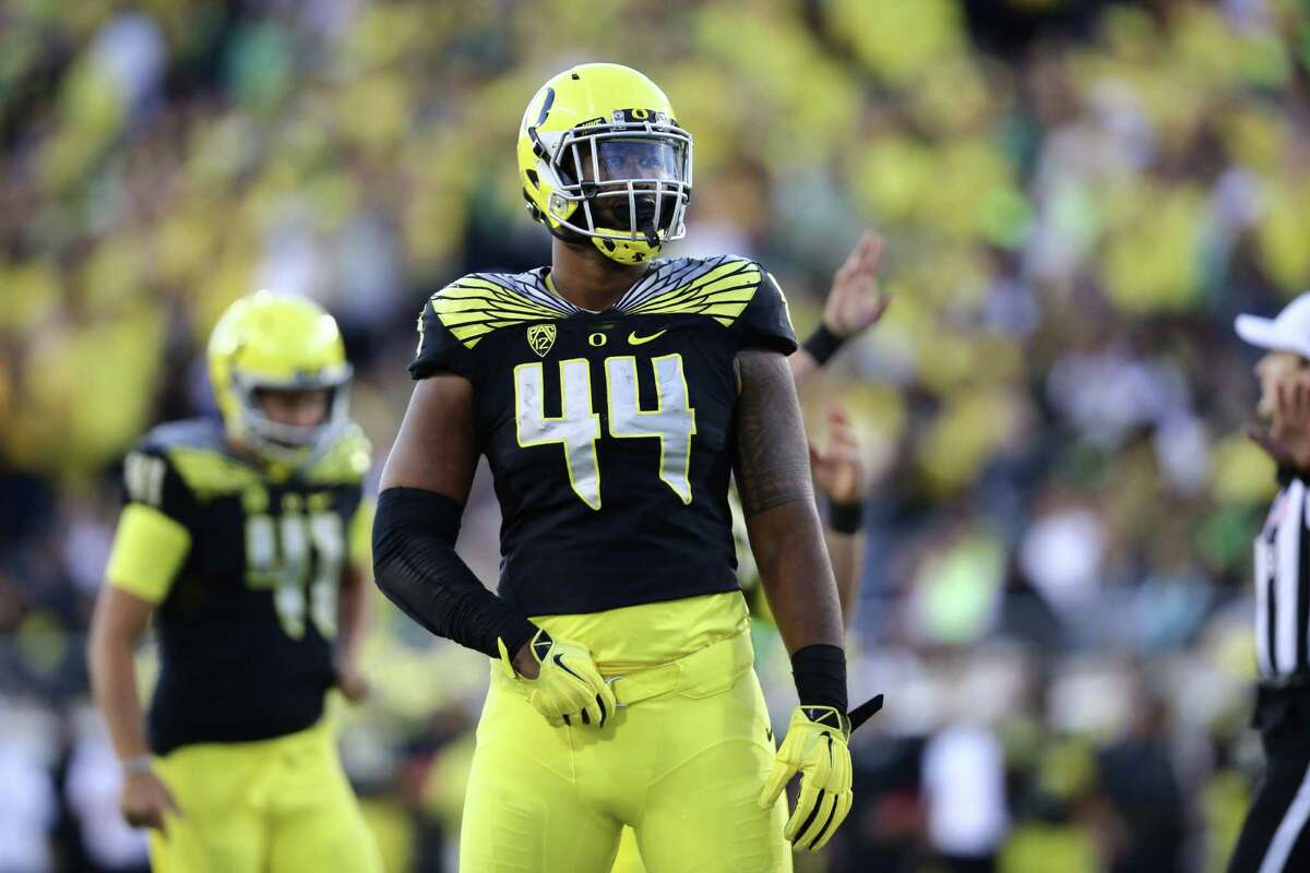 DeForest Buckner, Oregon Height/ weight: 6-7, 290 40-yard dash: 4.87 Buckner is massive with a huge wingspan and is extremely light on his feet for such a big man. He dominated blockers last season, piling up 10 1/2 sacks, 17 for losses and 83 tackles. Buckner is regarded as a superior prospect to former teammate Arik Armstead, who was drafted 17th overall by the 49ers last season.