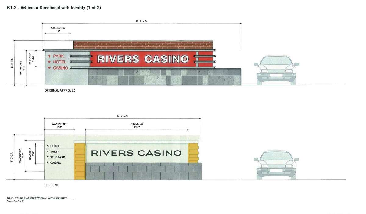 Elevation plan for signage at Rivers Casino at Mohawk Harbor. (Provided by the City of Schenectady)
