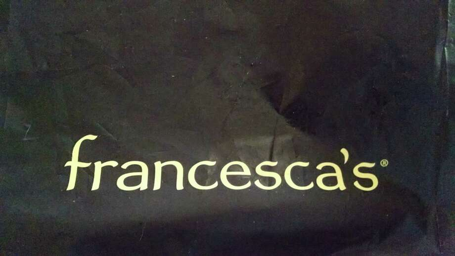 A plastic bag from the Houston-based retail chain Francesca's. Photo: Bill Montgomery