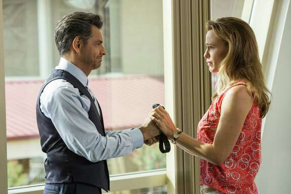 """This image released by Sony Pictures shows Eugenio Derbez, left, and  Jennifer Garner in a scene from Columbia Pictures', """"Miracles from Heaven.""""  (Chuck Zlotnick/Sony Pictures via AP)"""