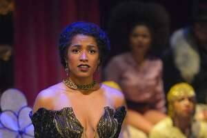 "Rae (Taylor Iman Jones) falls for Big Joe in ""The Unfortunates"" at ACT"