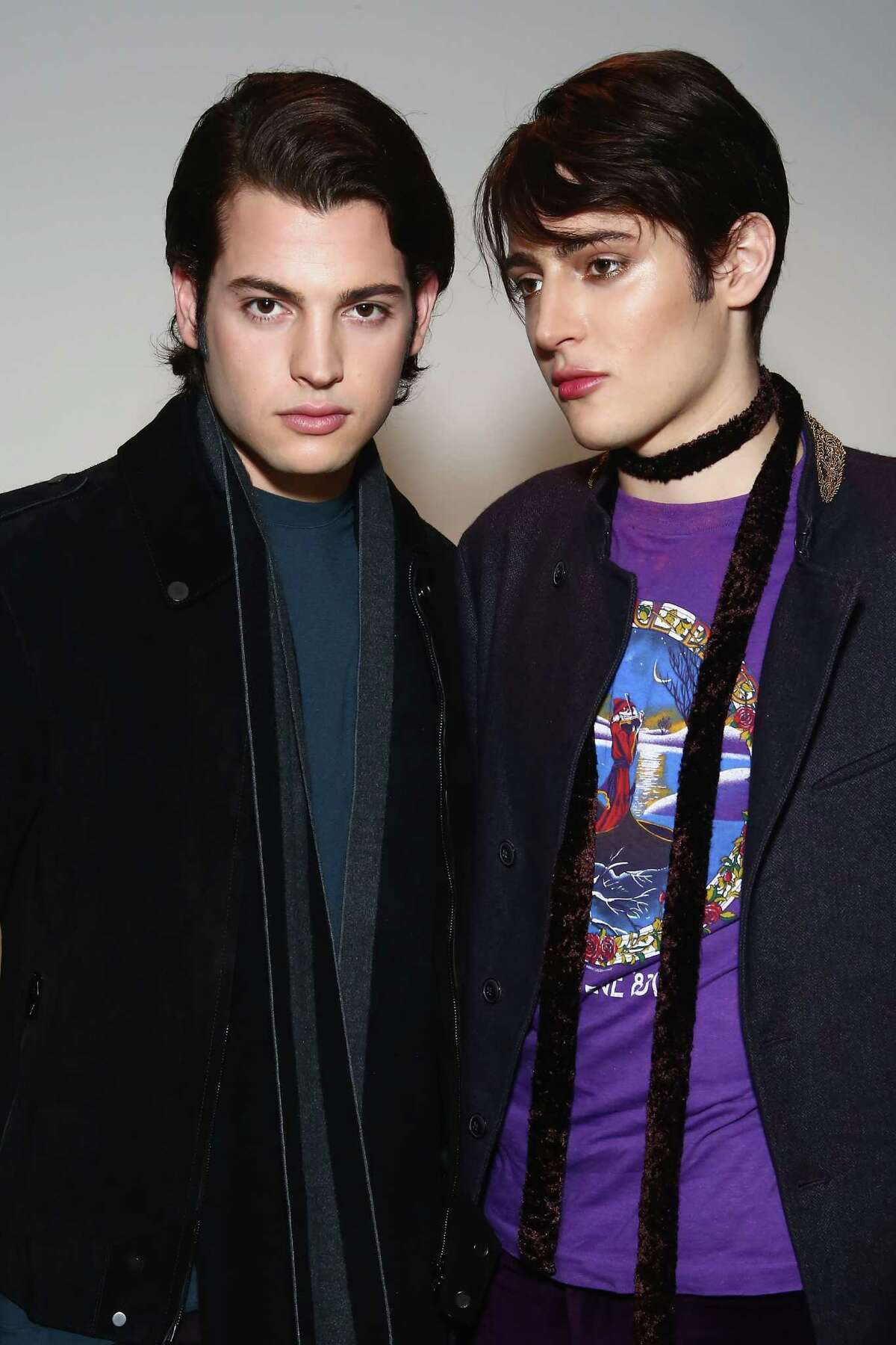 Peter and Harry Brant debut their new M.A.C. Cosmetics collection at M.A.C. Pro Store on March 9, 2016 in New York City. Peter Brant Jr. was held at JFK airport on Wednesday, March 23, 2-16 after an incident with a Port Authority officer.