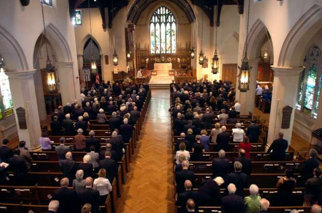 Christ Church Greenwich was filled during the memorial worship service for Bernie Yudain, at Thursday, April 8, 2010. Photo: Helen Neafsey / Greenwich Time
