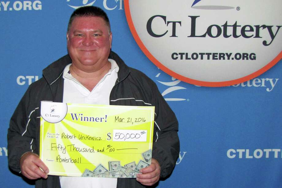 "Connecticut resident Robert Unikewicz finally checked his Powerball numbers from the Dec. 5 drawing and found out he won $50,000. ""I don't check my tickets very often. Every once in a while, when I have the chance, I go through them,"" he told lottery officials when he cashed in his ticket this week. ""I was really surprised. I hardly ever win anything. Now, I can get caught up on some bills, give some money to my two daughters, take a vacation, and put some money away."" Photo: /"