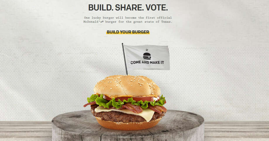 Dominant world force McDonald's is holding a contest to see who can design a signature burger for the state of Texas. But wait a minute, don't we have Whataburger in Texas already?