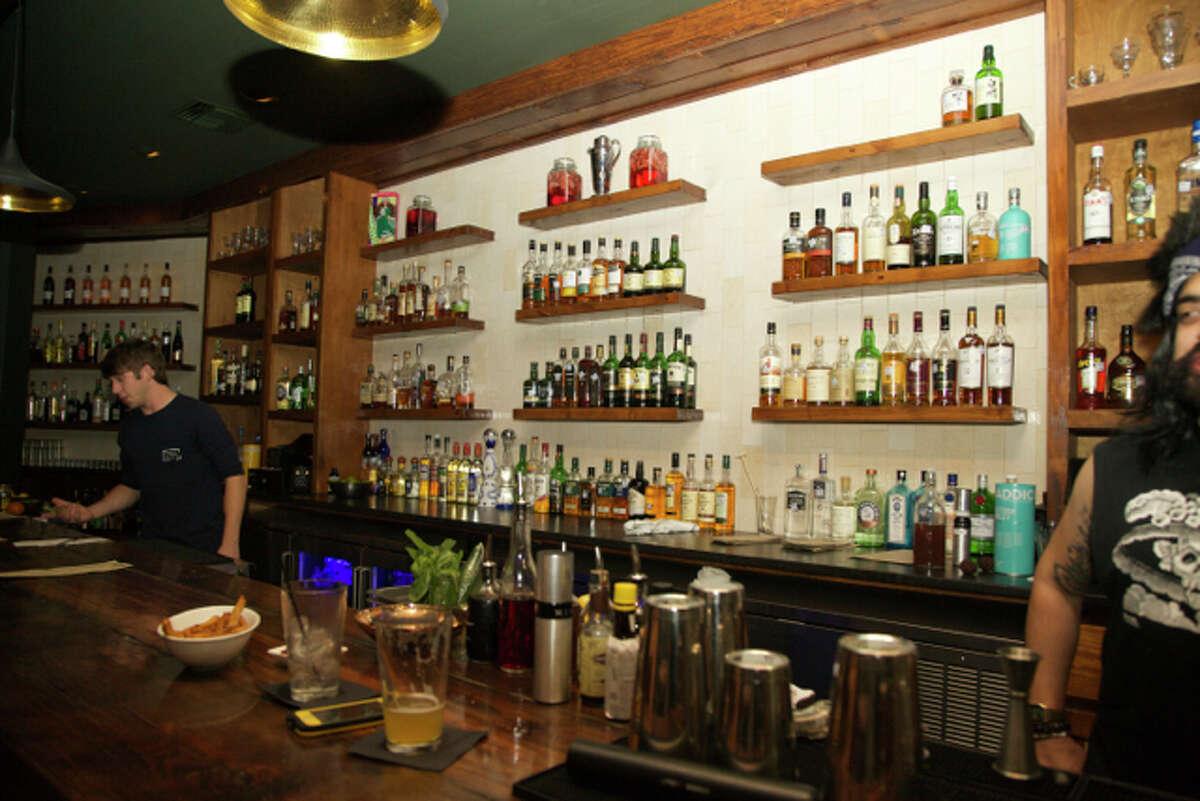 The bar at Francis Bogside