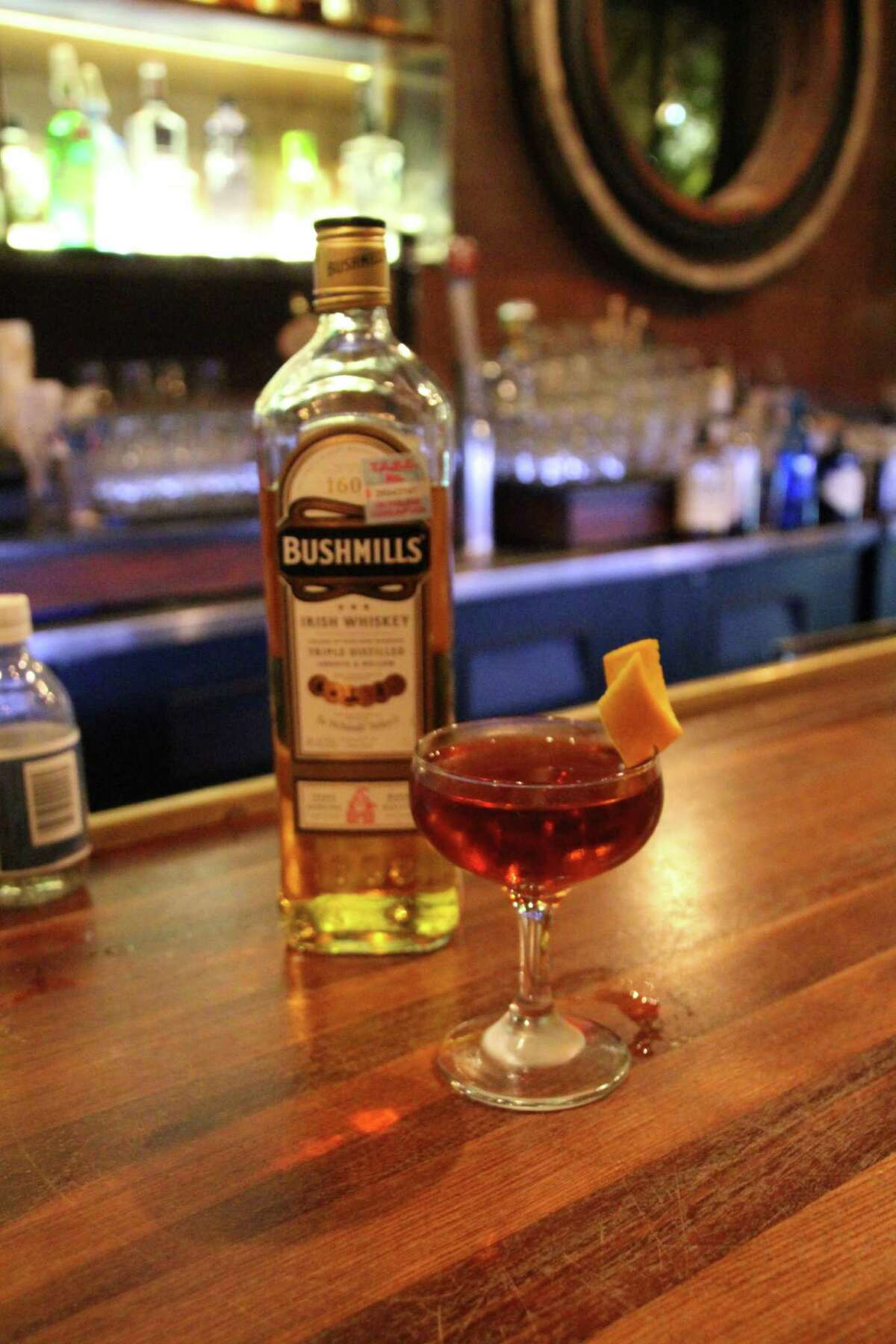 A whiskey cocktail
