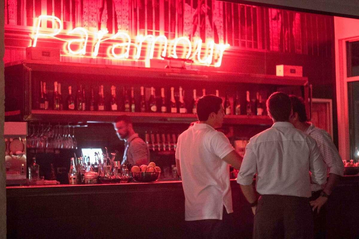 The bar at Paramour.