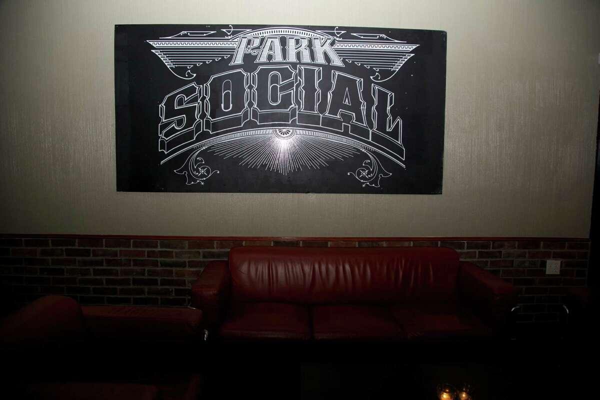The interior sign at Park Social.