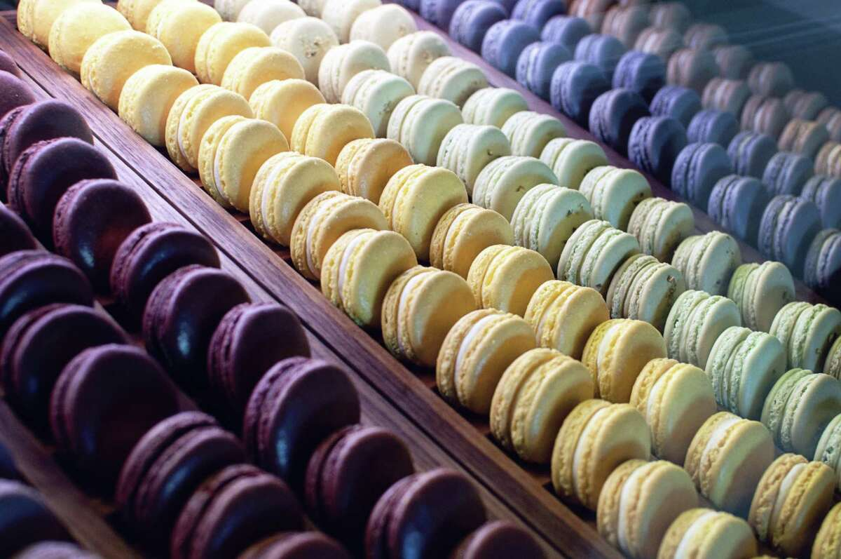 An array of macarons at Bakery Lorraine