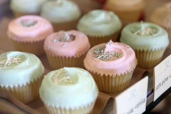 Cupcakes at Bird Bakery.