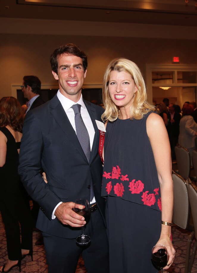 Paul and Katie Barnhart at the LLS Man & Woman of the Year kickoff celebration . Photo: Amber Elliott, Houston Chronicle / © 2016  Houston Chronicle